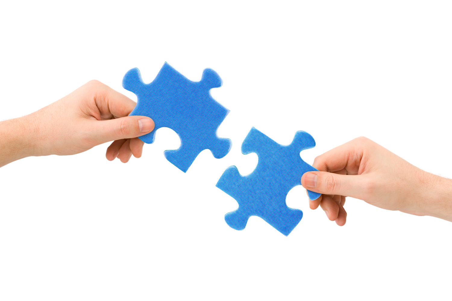 Image result for two blue puzzle pieces illustrating invoice matching